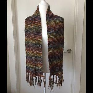 Lot of 2 Knit Wool Blend Scarves
